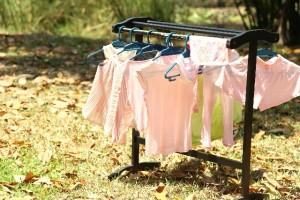 ぎゅうぎゅう詰めの洗濯物干し