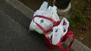スーパーのビニール袋