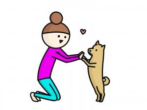 飼い主さんと愛犬