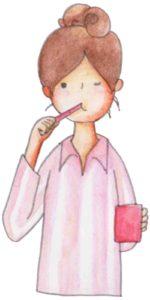 唇はしっかり閉じたまま歯磨き